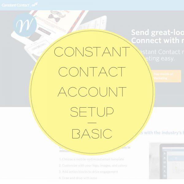 Constant-Contact-Account-Setup—BASIC