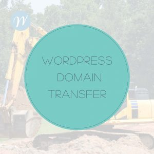 WORDPRESS DOMAIN TRANSFER