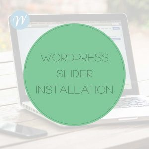 Wordpress Slider Installation