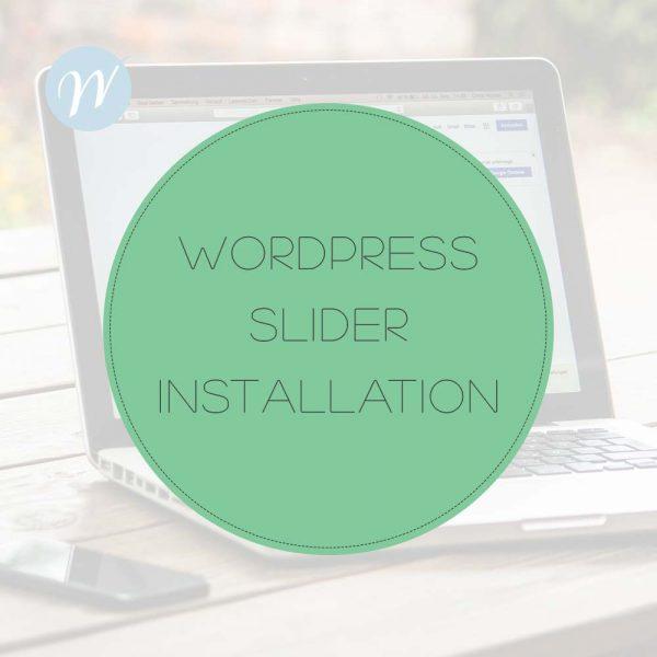 WordPress-Slider-Installation