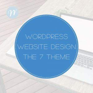 Wordpress Web Design THE7 theme