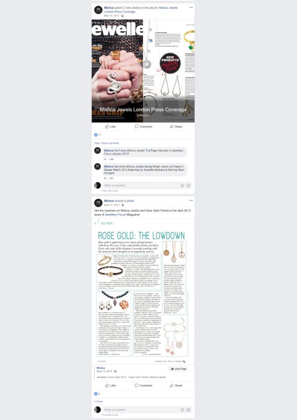 Facebook – Mishca Jewels – web2