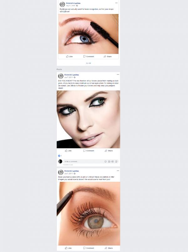 Facebook – Victoria's Lashes – web2