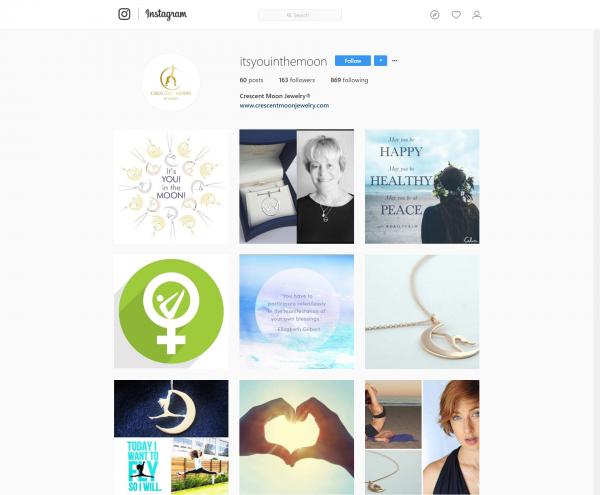 Instagram – Crescent Moon Jewelry – WEB