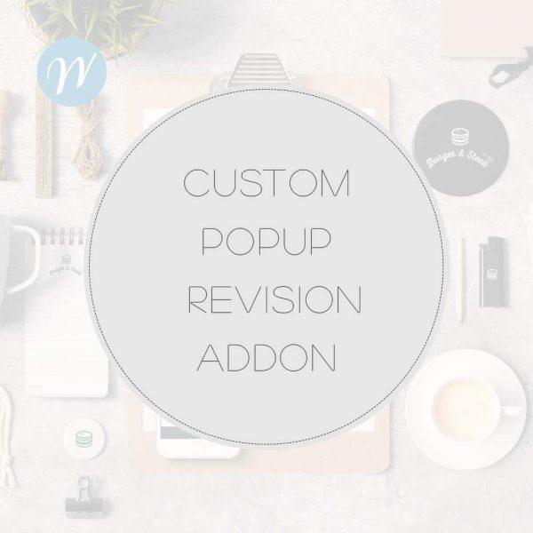 Custom POPUP Revision ADDON