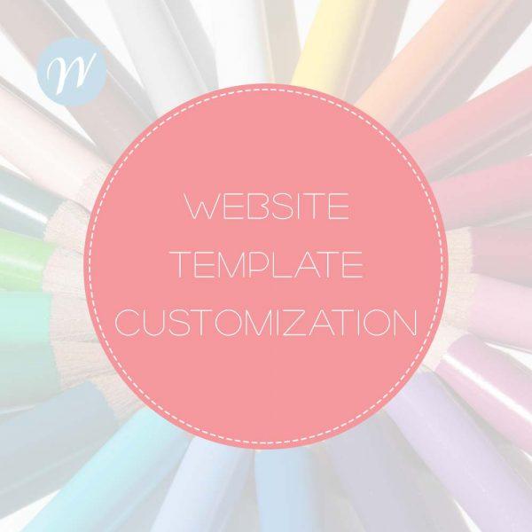 Website Template Customization